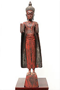 5A Standing Buddha - Wood -Post-Angkorian Style -H. 60 cm - USD450