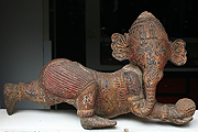Ganesh in wood -H:37cm, W:66cm - USD490 -