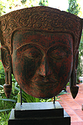 021. Buddha's masque - Post Angkorian style - wood - Height:80cm, W74:cm, W:Kg - USD 2600 -