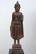 029. Standing buddha - Wood - Height:76cm,W:14cm, W:3KG - USD 310 -