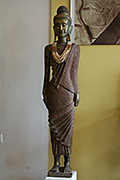 38. Standing Buddha - Post Angkorian Style - wood - Height: 55cm - USD1800 -