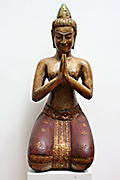85. Prajnaparamita - Wood - Height: 75 cm, W:27cm W:10kg -750 USD  -